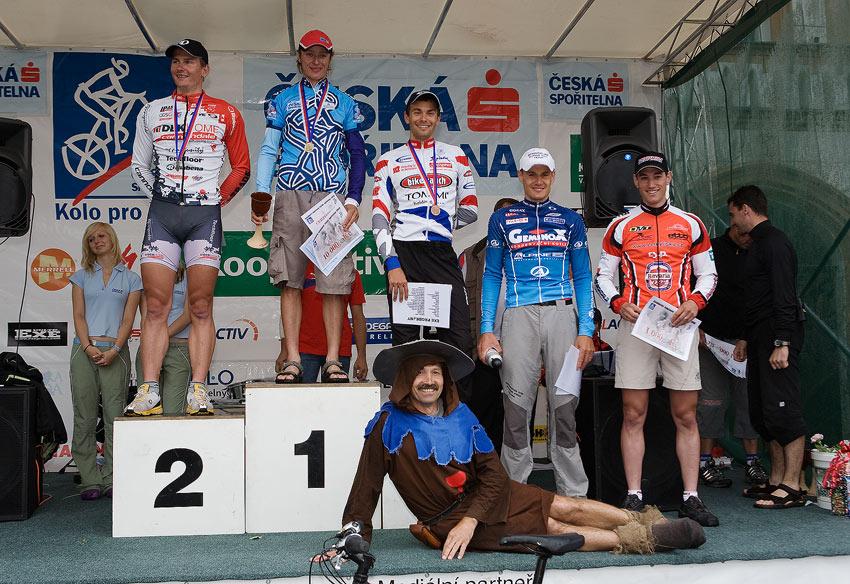 Kolo pro život/český pohár 1/2 XCM - 7.6. 2008 Jistebnice - 1. Zerzan, 2. Boudný, 3. Bubílek, 4. Ježek, 5. Zlámalík