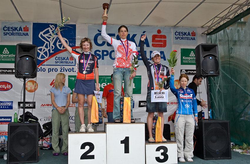 Kolo pro život/český pohár 1/2 XCM - 7.6. 2008 Jistebnice - ženy 19-29: 1. Kottová, 2. Krňáčová, 3. Čuříková, 4. Kábrtová