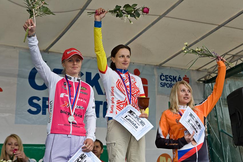Kolo pro život/český pohár 1/2 XCM - 7.6. 2008 Jistebnice - ženy 30-39: 1. Bublová, 2. Radová, 3. Procházková