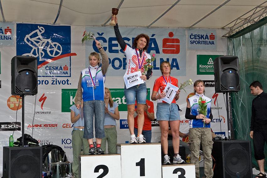 Kolo pro život/český pohár 1/2 XCM - 7.6. 2008 Jistebnice - ženy 40+: 1. Liková, 2. Špalková, 3. Matlašková, 4. Antonínová