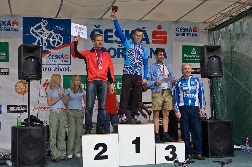 Kolo pro život/český pohár 1/2 XCM - 7.6. 2008 Jistebnice - muži 60+: 1. Hronza, 2. Barták, 3. Procházka, 4. Rejholec