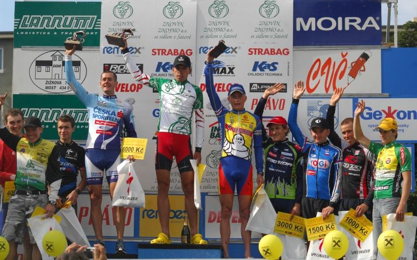 ČP XCM #3 2008 - Specialized Extrém Bike Most: 1.Vokrouhlík, 2.Trunschka, 3.Zelený