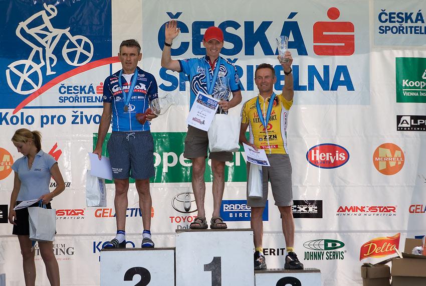 Kolo pro život - Příbramský permoník české spořitelny - 31.5. 2008 . muži 50-59: 1. Kocian, 2. Šťastný, 3. Krupička