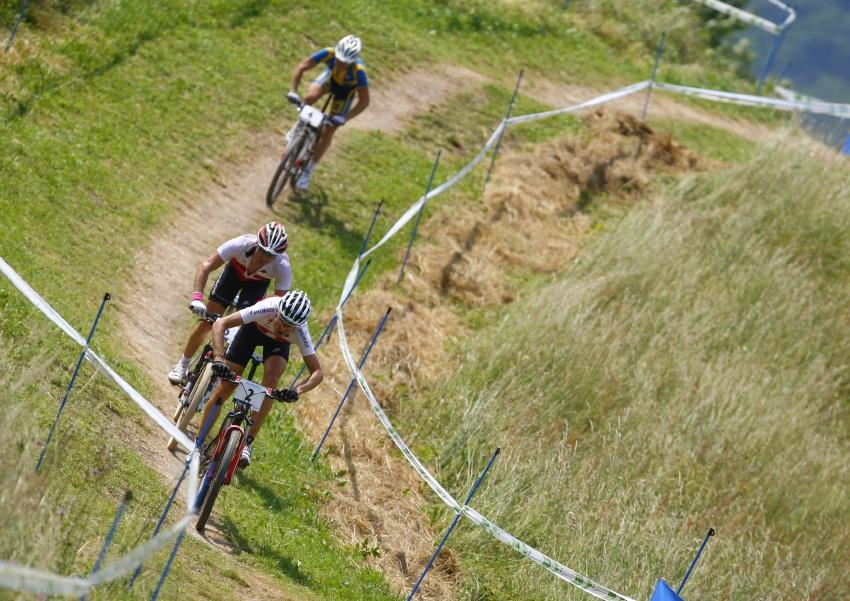 MS MTB Val di Sole '08 - XC Elite: ... stíhaní Kessiakoffem