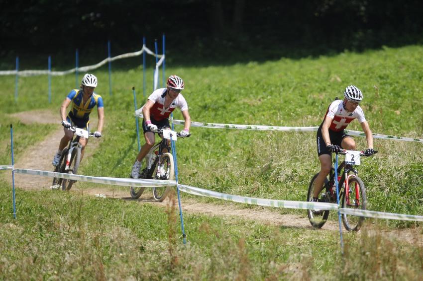 MS MTB Val di Sole '08 - XC Elite: vedoucí skupina ve druhém kole