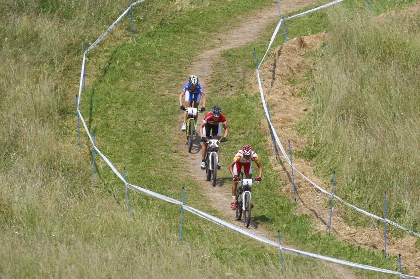 MS MTB 2008 Val di Sole - XC ženy: vedoucí trojice