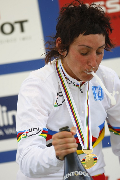 MS MTB 2008 Val di Sole - XC �eny: Marga Fullana pot�et�