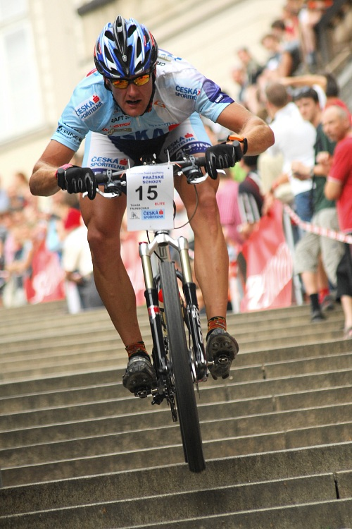 Pražské schody 2008: Tomáš Trunschka byl na schodech suverénně nejrychlejší