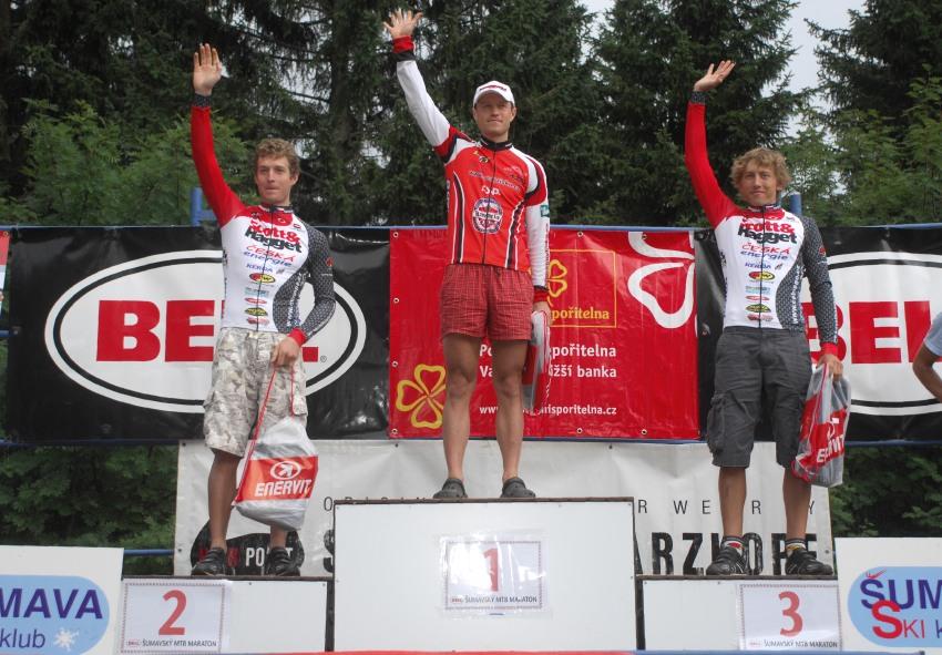 XI. BELL Šumavský maraton '08: muži 80km - 1. Rybařík, 2. Hynek, 3. Plesník