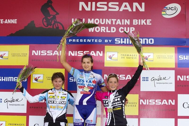 Nissan UCI MTB World Cup XC#6 - Mont St. Anne 27.7. 2008 - Tereza Hu��kov� vyhr�la kategorii do 23 let
