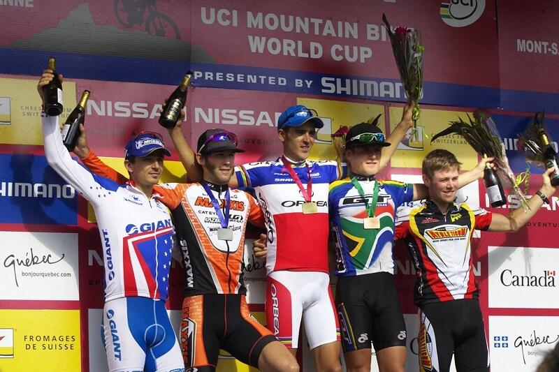 Nissan UCI MTB World Cup XC#6 - Mont St. Anne 27.7. 2008 - 1. Absalon, 2. Kabush, 3. Stander, 4. Craig, 5. Fl�ckiger