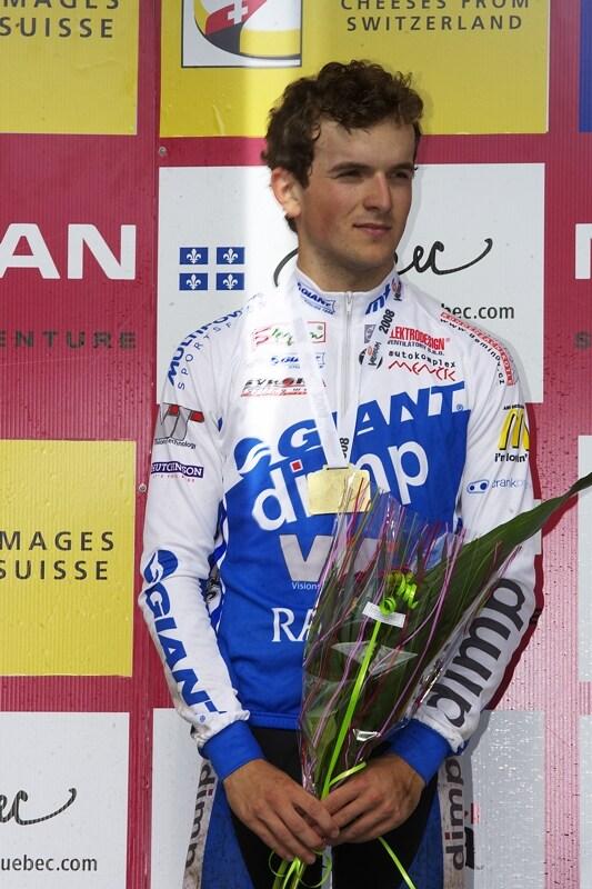 Nissan UCI MTB World Cup XC#6 - Mont St. Anne 27.7. 2008 - Jan Škarnitzl na stupních U23