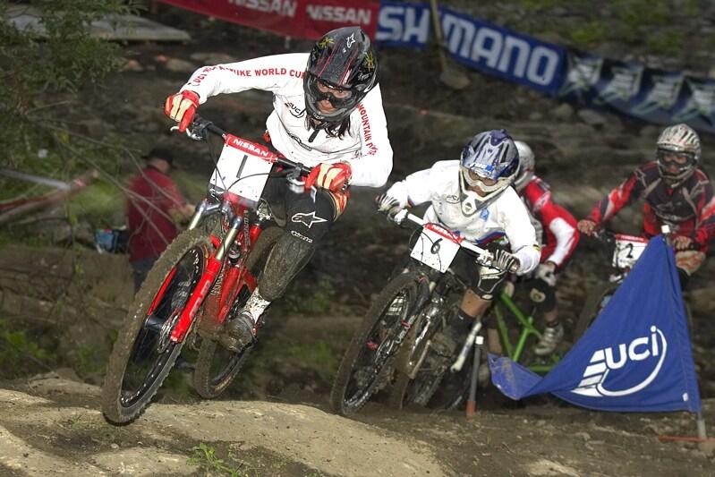Nissan UCI MTB World Cup 4X#4 - Mont St. Anne, 26.7. 2008 - Anneke Beerten chybovala ve fin�le a skon�ila �tvrt�