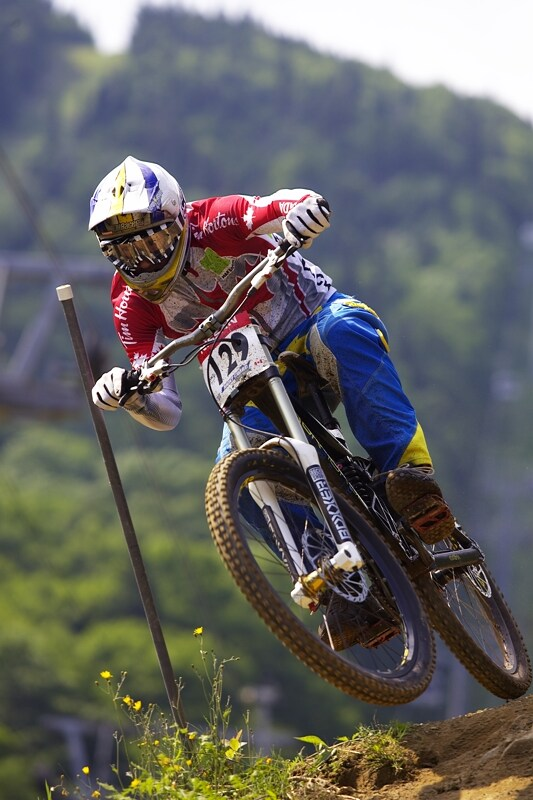 Nissan UCI MTB World Cup DH #4 - Mont St. Anne 26.7. 2008 - Justin Brown