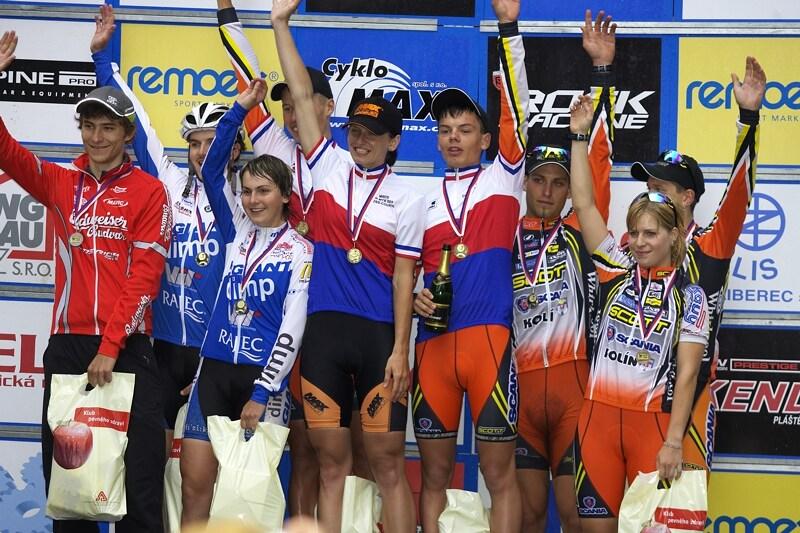 Mistrovství ČR XC - Velké Losiny 12.-13.7. 2008 - nejlepší štafety