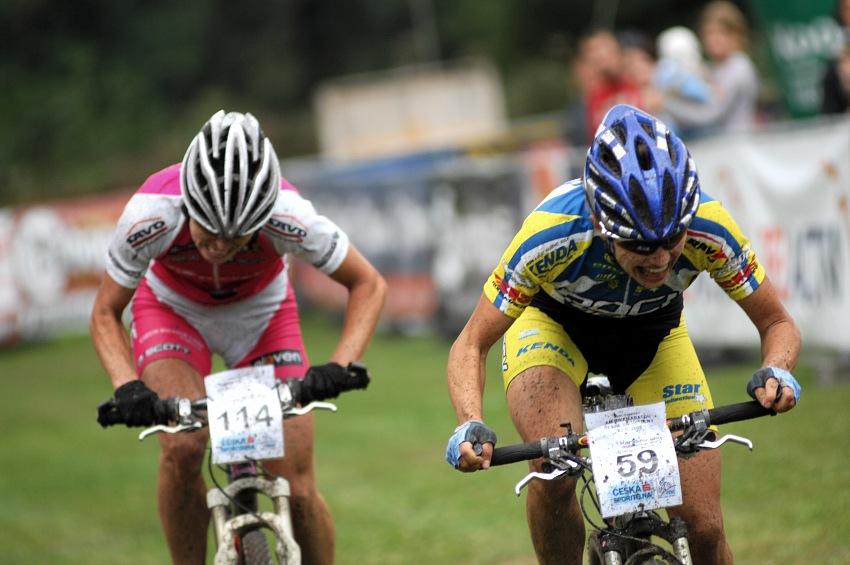 KPŽ Karlovarský AM bikemaraton ČS 2008: Ilona své vedení udržela