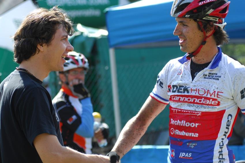 KP� Karlovarsk� AM bikemaraton �S 2008: Gratulace od Radime Ko��nka