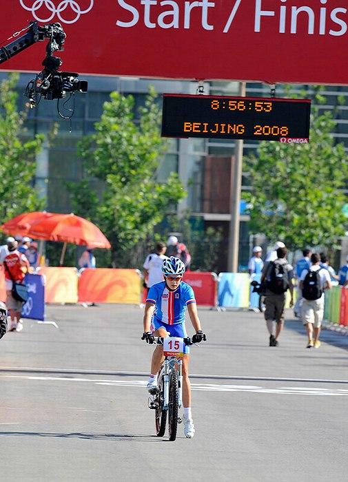 Olympijské hry 2008 - Peking - Tereza Huříková si trénuje start, foto: Rob Jones