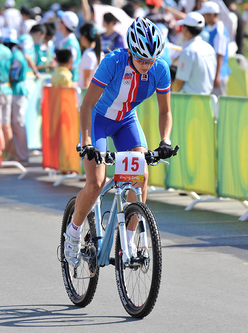 Olympijsk� hry 2008 - Peking -Tereza Hu��kov� si tr�nuje start, foto: Rob Jones