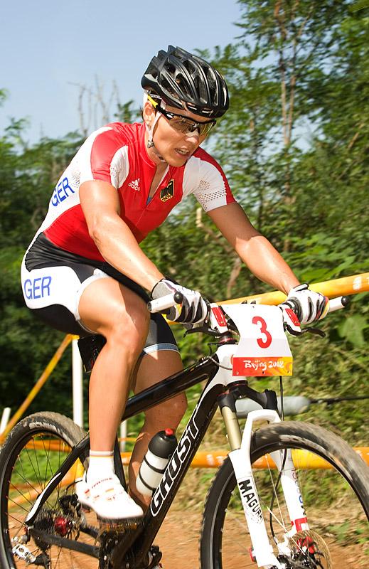 Olympijské hry 2008 - Peking - Sabine Spitz, foto: Casey B. Gibson