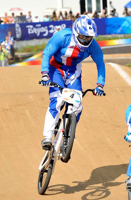 BMX - Olympijsk� hry - Peking 2008 - Jana Hor�kov� , foto: Rob Jones/Canadiancyclist.com