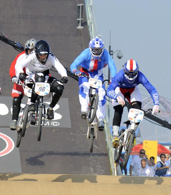 BMX - Olympijské hry - Peking 2008 - Jana Horáková v semi , foto: Rob Jones/Canadiancyclist.com