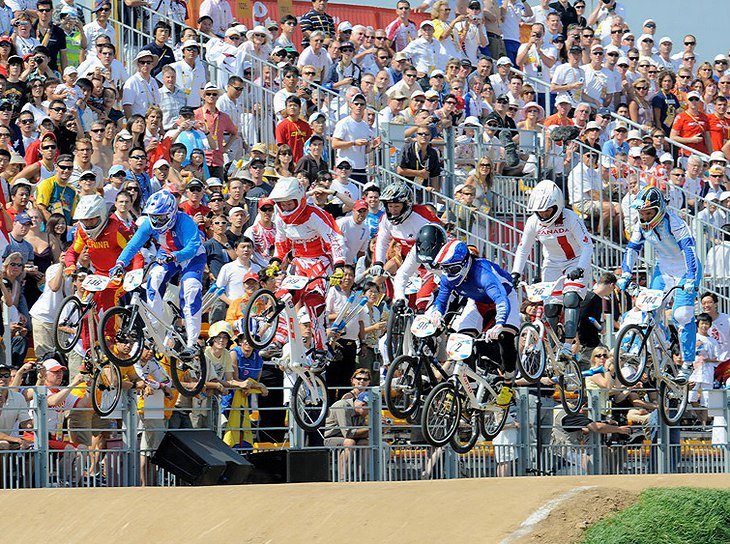BMX - Olympijské hry - Peking 2008 semifinále žen, foto: Rob Jones/Canadiancyclist.com