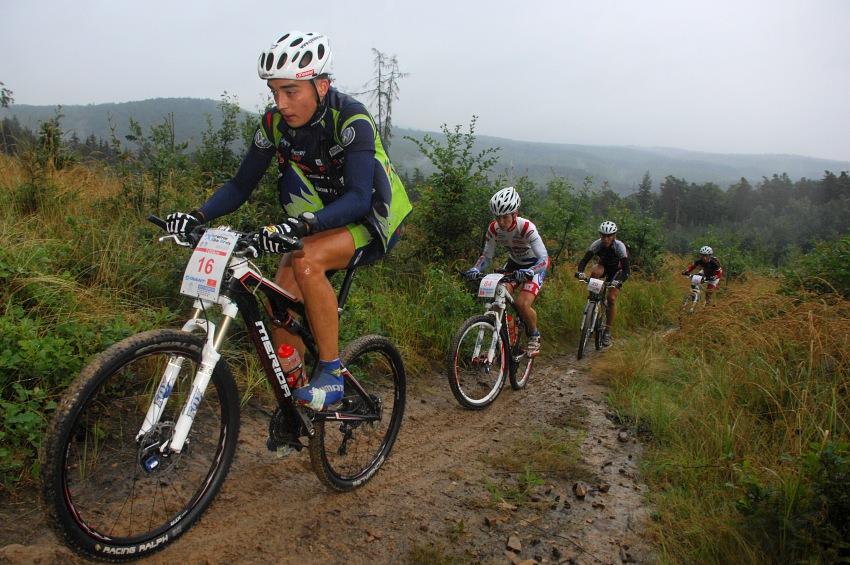 �P XCM #5 2008 - Giant eXtreme Bike Brdy: Estonec Martin Loo, Petr Tat��ek, Karel Hartl a Petr Vachek