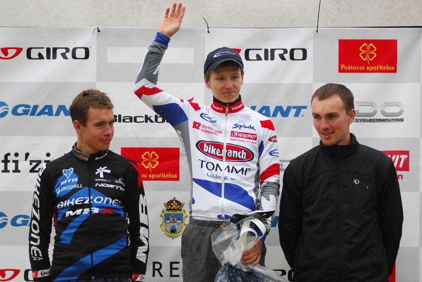 ČP XCM #5 2008 - Giant eXtreme Bike Brdy: muži hobby - 1. Tatíček, 2. Šíbl, 3. Stadtherr