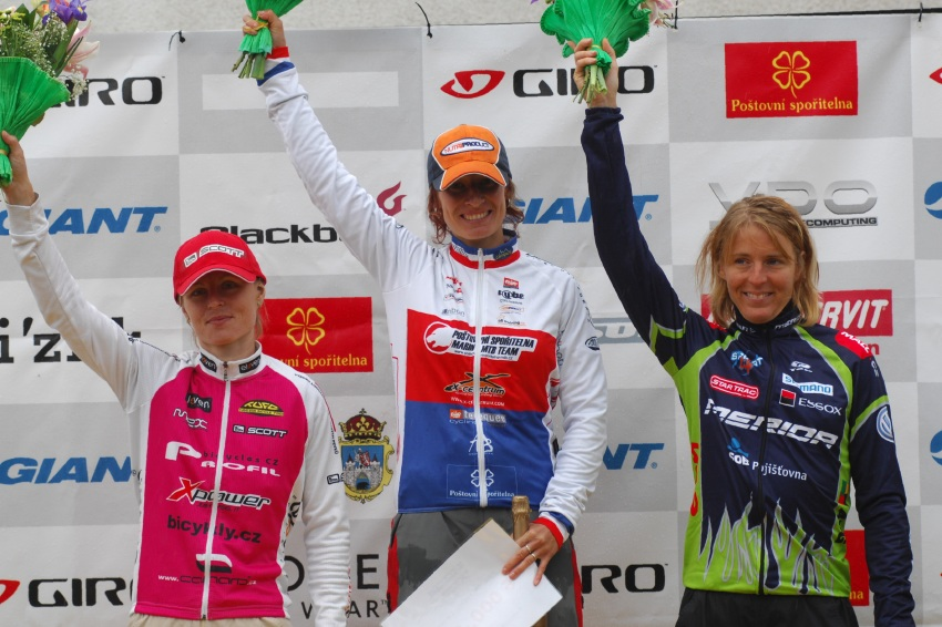 ČP XCM #5 2008 - Giant eXtreme Bike Brdy: ženy Elite - 1.Krnáčová, 2.Radová, 3.Nováková
