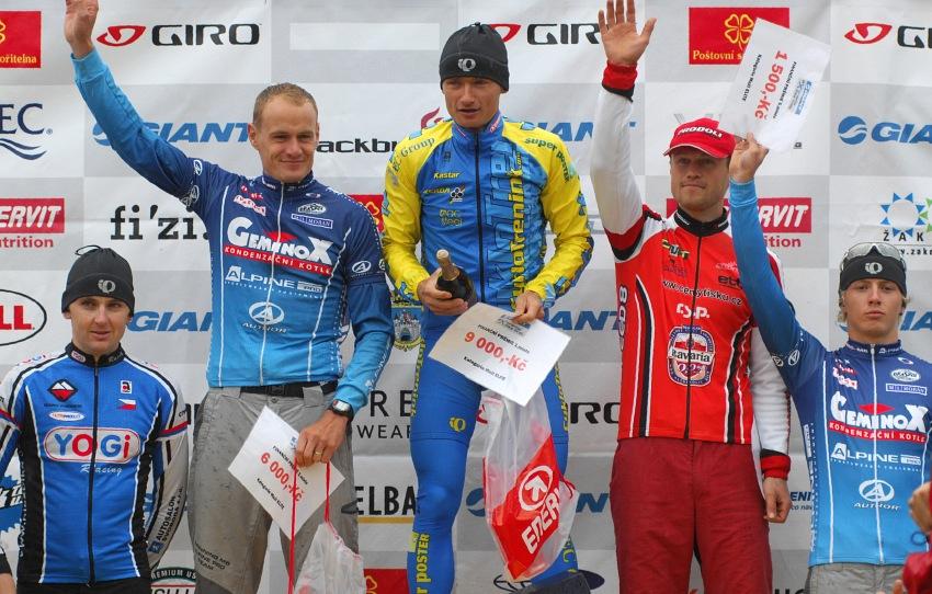 ČP XCM #5 2008 - Giant eXtreme Bike Brdy: muži Elite - 1.Hruška, 2.Ježek, 3.Rybařík, 4.Kestler, 5.Šilar