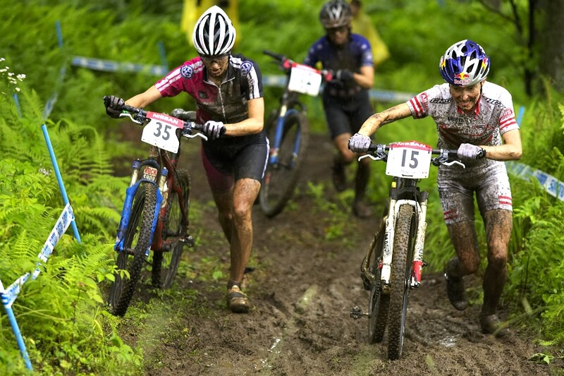 Nissan UCI MTB World Cup XC#7 - Bromont /KAN/ 3.8. 2008 - to je ale p�kn� tla�enice, �e?