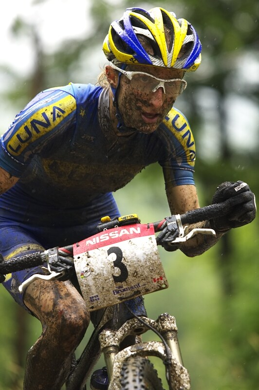 Nissan UCI MTB World Cup XC#7 - Bromont /KAN/ 3.8. 2008 - sout�ed�n� Catherine Pendrel