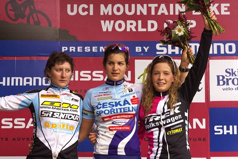 Nissan UCI MTB World Cup XC#7 - Bromont /KAN/ 3.8. 2008 - Tereza Hu��kov� zv�t�zila v kategorii U23