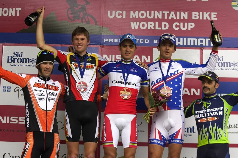 Nissan UCI MTB World Cup XC#7 - Bromont /KAN/ 3.8. 2008 - 1. Absalon, 2. Fluckiger, 3. Craig, 4. Kabush, 5. Hermida