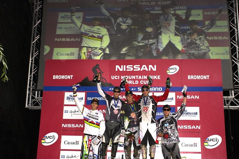 Nissan UCI MTB World Cup DH #5 - Bromont, 2.8. 2008 - 1. Hill, 2. Minaar, 3. Peat, 4. Atherton, 5. Beaumont