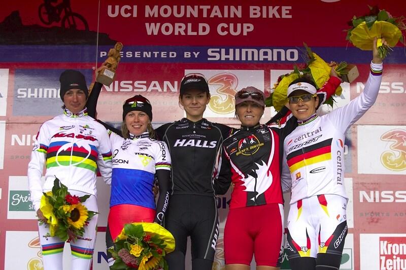 Nissan UCI MTB World Cup XC #9 - Schladming 14.9. 2008 - 1. Wloszczowska, 2. Kalentieva, 3. Premont, 4. Fullana, 5. Spitz