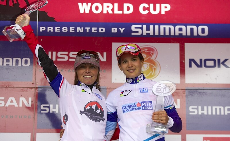 Nissan UCI MTB World Cup XC #9 - Schladming 14.9. 2008 - Marie Helene Premont a Tereza Huříková