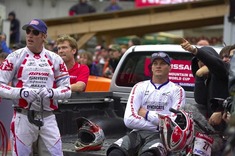Nissan UCI MTB World Cup DH #7, Schladming 13.9. 2009 - Greg Minaar a Steve Peat