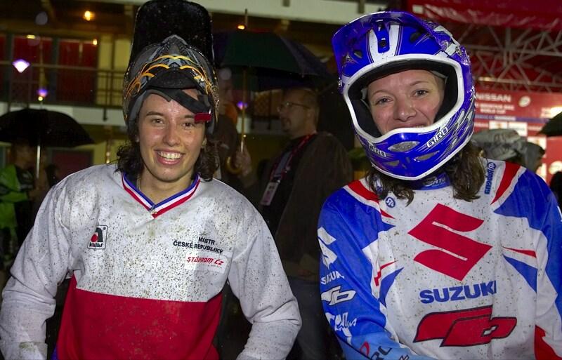 Nissan UCI MTB World Cup 4X #7 - Schladming, 12.9. 2008  - Romana Labounková a Jana Horáková, zlato a bronz ve Schladmingu