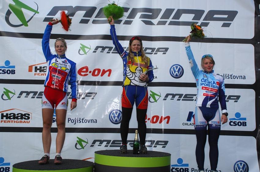 Merida Bike Vysočina '08 - sprint: ženy: 1.Pechoutová, 2. Veselá, 3. Valešová