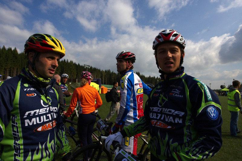 Merida Bike Vysočina, Nové Město na Moravě 28.9. 2008 - Jose Antonio Hermida a Ralph Naef
