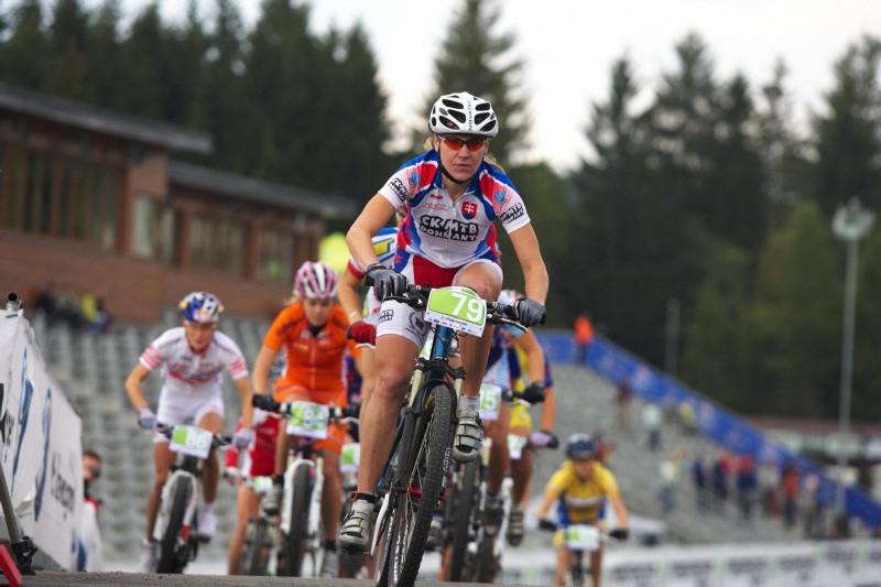 Merida Bike Vysočina, Nové Město na Moravě 28.9. 2008 - Janka Števková měla nejrychlejší start, celkově skončila druhá