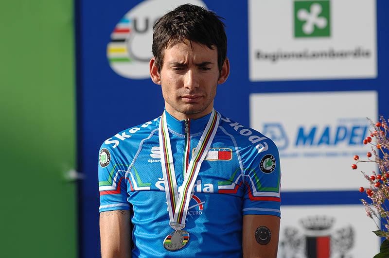 Mistrovství světa na silnici 2008, Varese/ITA - zklamaný Simone Ponzi,  foto: Frank Bodenmüller/MTBSector.com