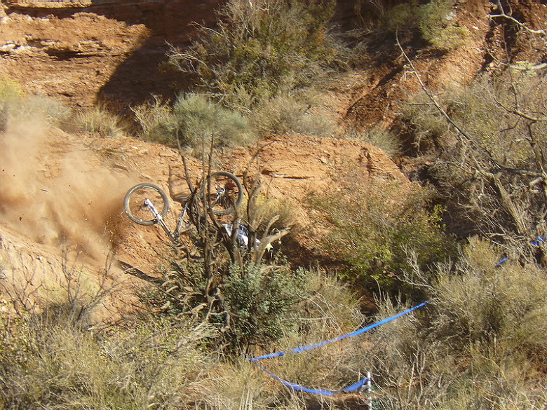 Red Bull Rampage the Evolution 2008, Virgin - Utah, USA - Cam McCaul to neust�l, foto: Pavel Mikez