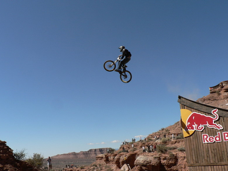 Red Bull Rampage the Evolution 2008, Virgin - Utah, USA - Kurt Sorge dává polet přes kaňon, foto: Pavel Mikez