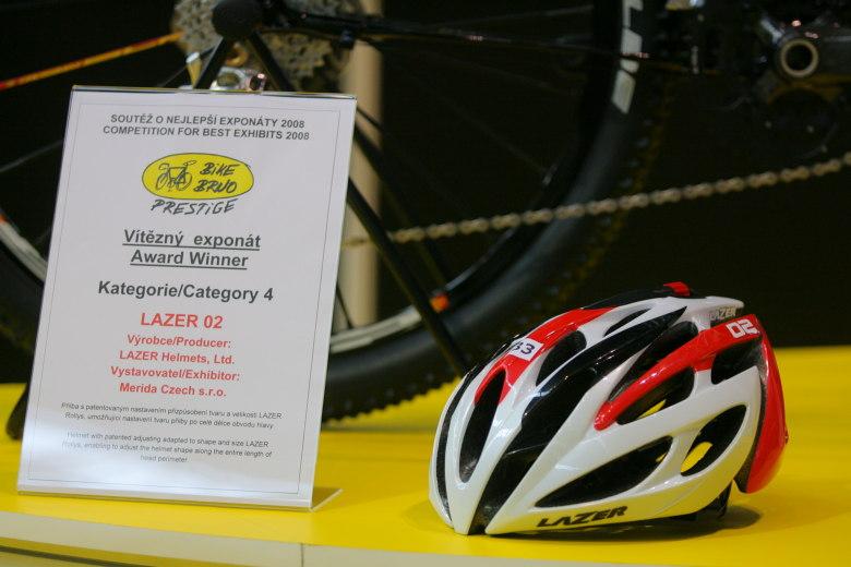 Sport Life, Brno 6.-9.11. 2008 - jeden z oceněných Bike Brno Prestige - přilba Lazer 2