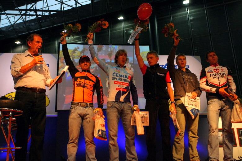 Sport Life, Brno 6.-9.11. 2008 - vyhlášení Merida Life Cupu - 1. Mlynář, 2. Spěšný, 3. Zelený, 4. Eberl, 5. Vokrouhlík