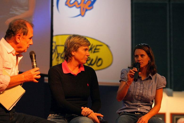 """Sport Life, Brno 6.-9.11. 2008 - """"malá a velká Káča"""" tedy Neumannová a Nash se po dlouhé době sešli poměrně nečekaně na pódiu Sport Life"""