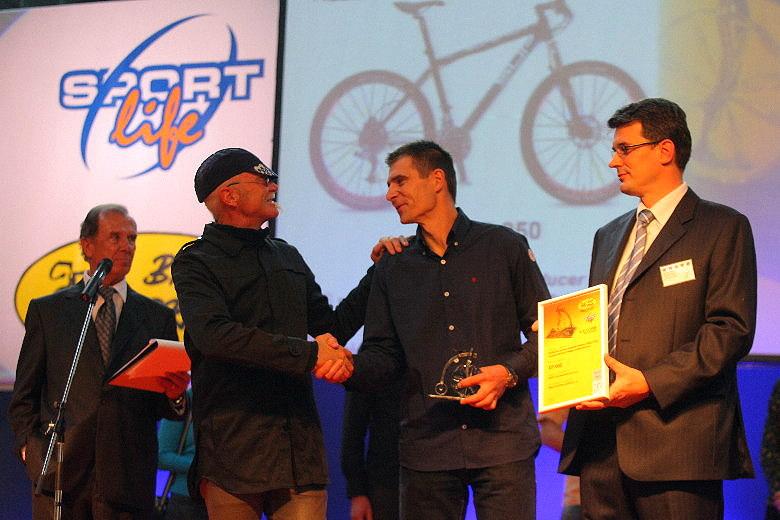 """Sport Life 2008, předání cen Bike Brno Prestige, 6. 11. Brno - """"Ty, Gary, přijeď k nám do Beskyd, ukážu ti Radegasta!"""""""